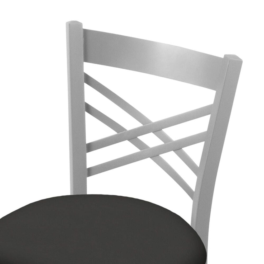 """Holland Bar Stool 620 Catalina 18"""" Chair with Anodized Nickel and Canter Iron Seat, , large"""
