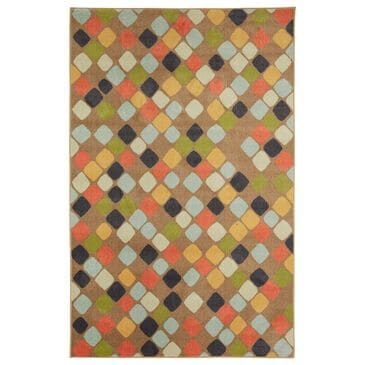 "Karastan Prismatic 3'4"" x 5' Blue, Green, Gray and Yellow Kids Area Rug, , large"