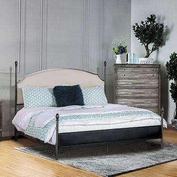 Furniture of America Kelley Cal King Panel Bed in Beige, , large