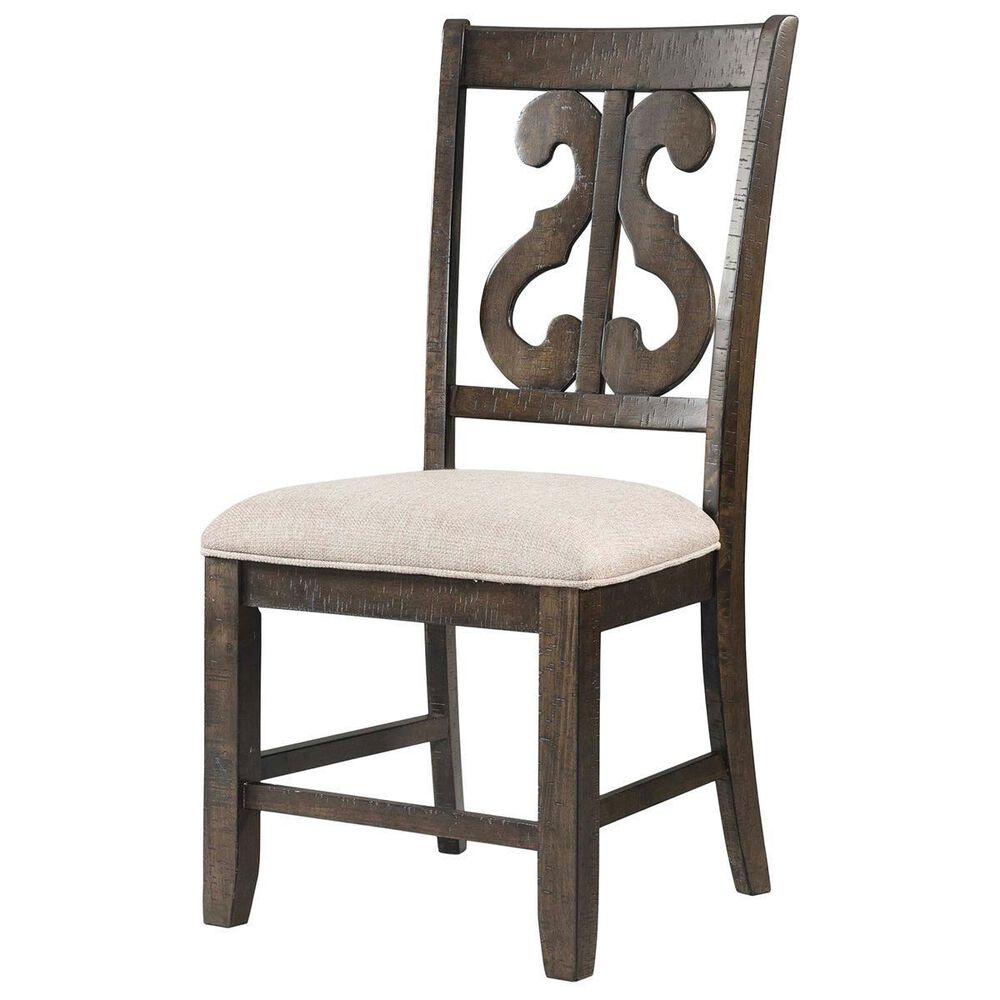 Nineteen37 Stone Swirl Back Side Chair in Dark Ash, , large