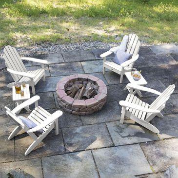 Highwood USA Classic Westport 6-Piece Adirondack Chair Set in White, , large