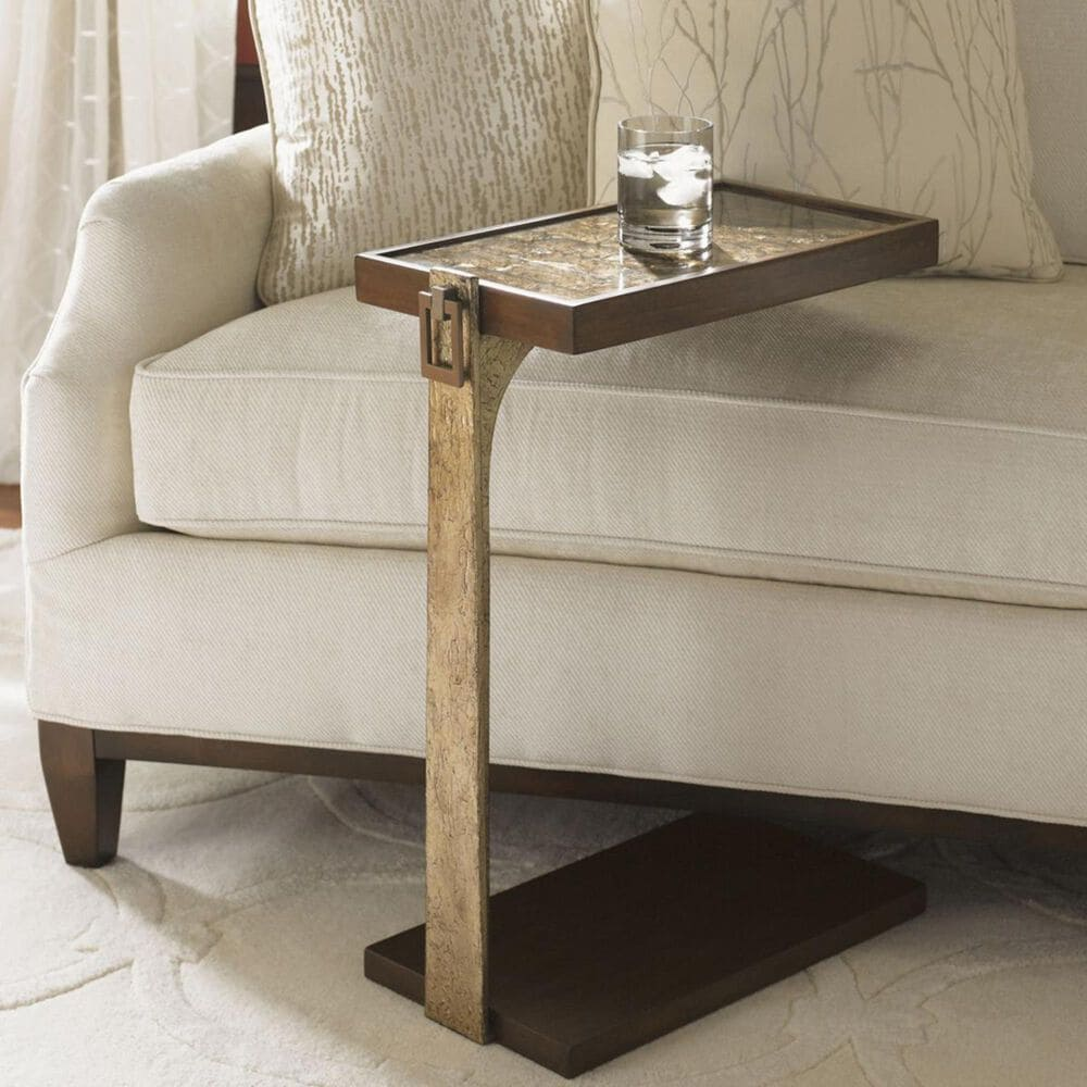 Lexington Furniture Tower Place Orland Chairside Table in Arlington Dark Walnut, , large