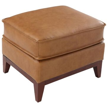 Italiano Furniture Newport Leather Ottoman in Camel, , large