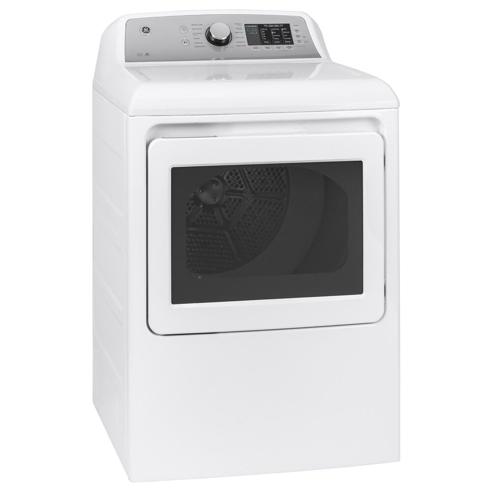 GE Appliances 4.8 Cu. Ft. Top Load Washer and 7.2 Cu. Ft. Electric Dryer Laundry Pair in White, , large
