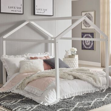 Signature Design by Ashley Flannibrook Full House Bed Frame in White, , large