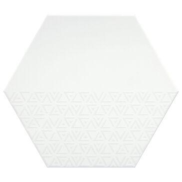 "Emser Rhythm White Hexagon Pattern 11"" x 13"" Pattern Porcelain Tile, , large"