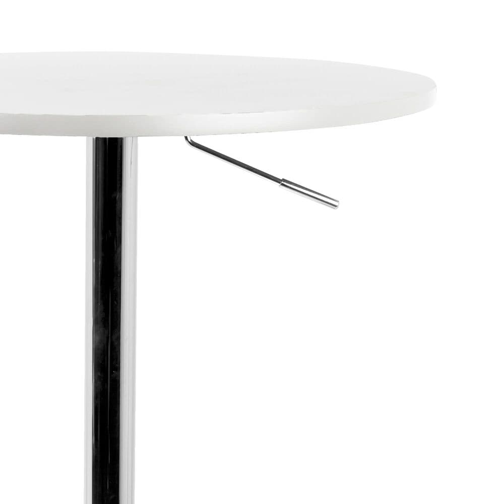 Lumisource Adjustable Bar Table Adjustable Bar Table in White/Chrome, , large