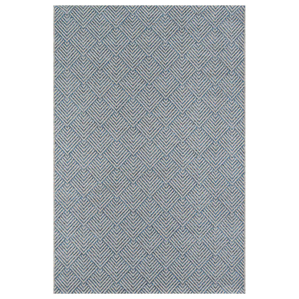 Momeni Como  2' x 3' Blue Indoor/Outdoor Area Rug, , large