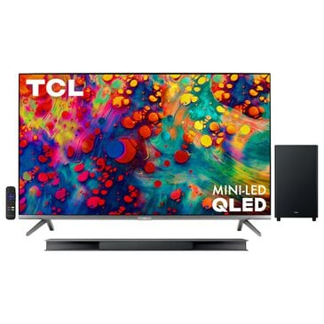 """TCL 75"""" Class 4K QLED Dolby Vision HDR Roku - Smart TV with 3.1 Atmos Sound Bar System, , large"""