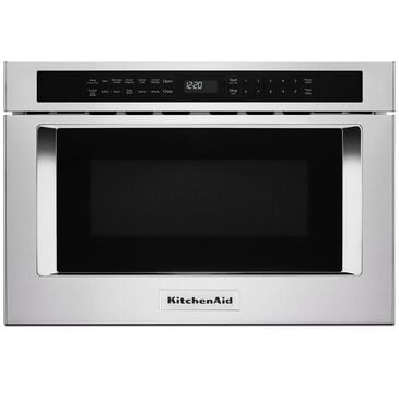 """KitchenAid 24"""" Under-Counter Microwave Oven Drawer in Stainless Steel , , large"""