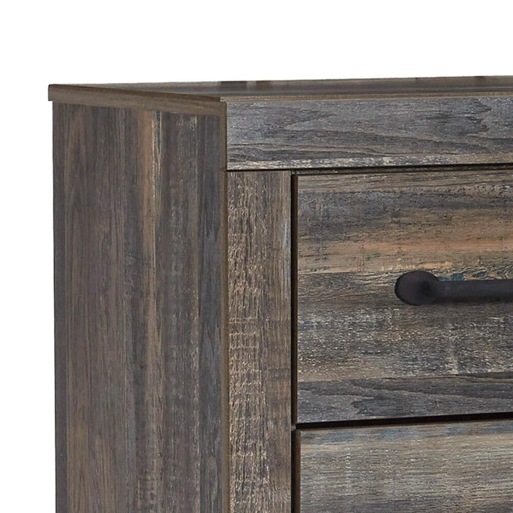 Signature Design by Ashley Drystan 2 Drawer Nightstand in Burnt Orange and Teal, , large