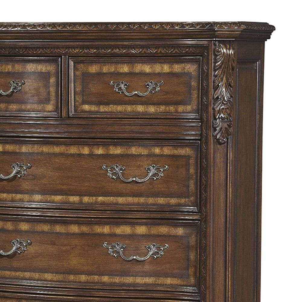 Nineteen37 Old World 6 Drawer Chest in Cathedral Cherry, , large