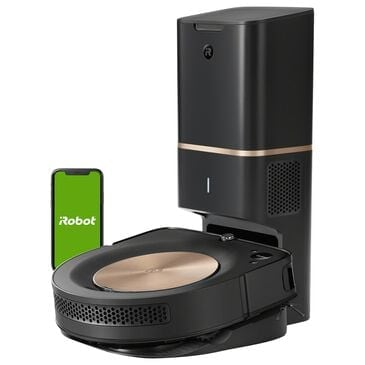 iRobot Roomba S9+ Robot Vacuum with Automatic Dirt Disposal in Black, , large