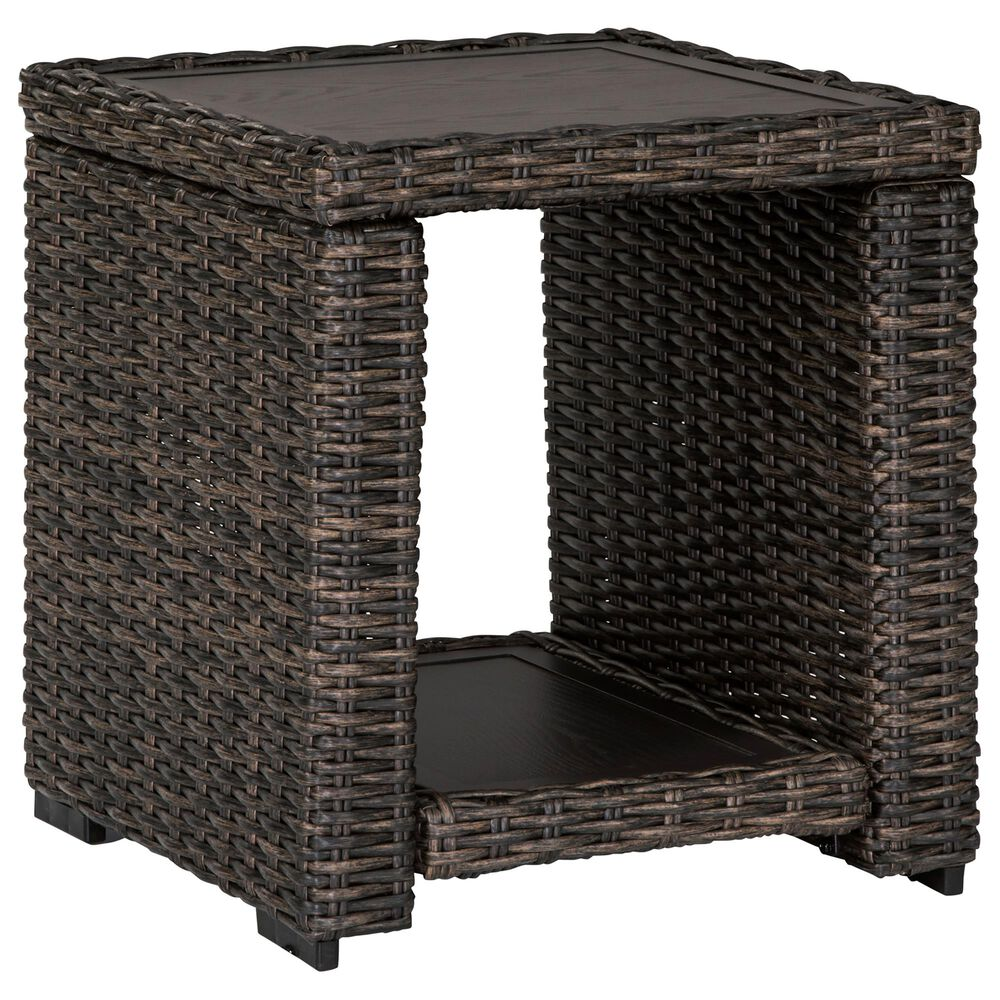 Signature Design by Ashley Grasson Lane Square End Table in Brown, , large