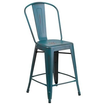 "Flash Furniture 24"" Counter Stool in Blue, , large"