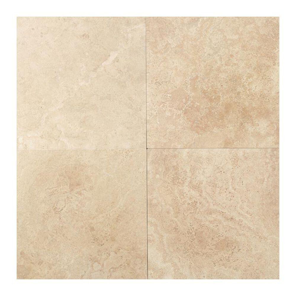 "Dal-Tile Travertine 18"" x 18"" Honed Field Tile in Mediterranean Ivory, , large"