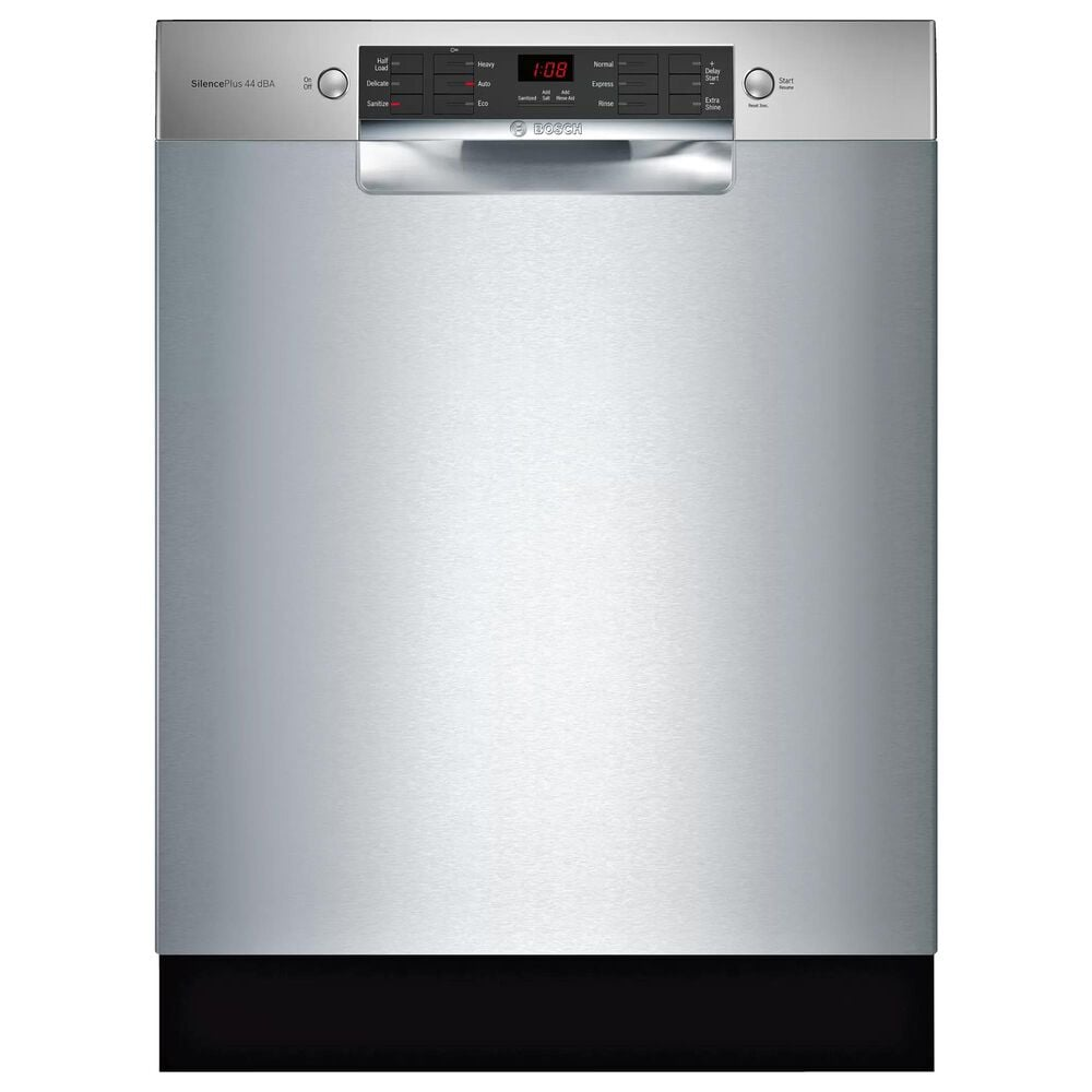 """Bosch 800 Series 24"""" Built-In Recessed Handle Dishwasher in Stainless Steel, , large"""