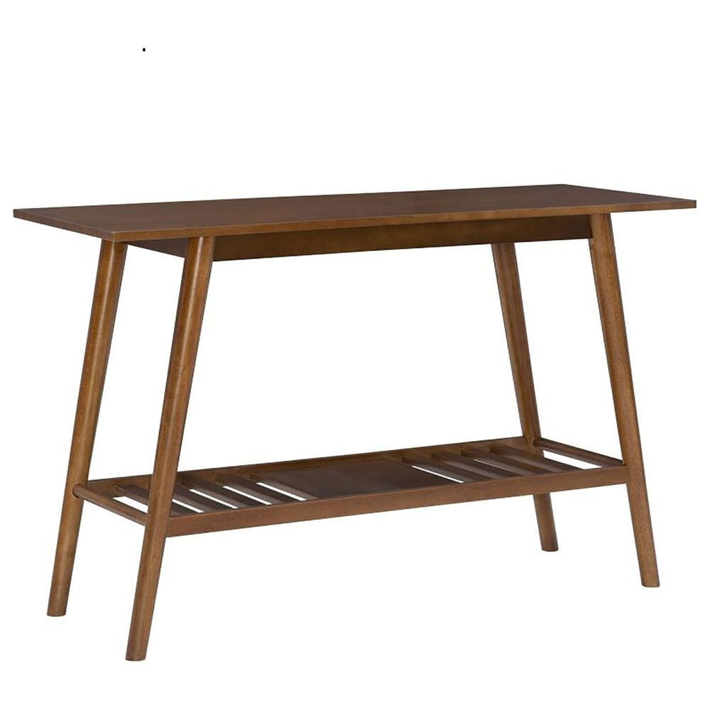 Linon Home Decor Direct Ship Cosgrove Console Table in Warm Brown, , large