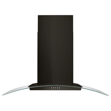 """Whirlpool 36"""" Concave Glass Wall Mount Range Hood in Black Stainless Steel, , large"""