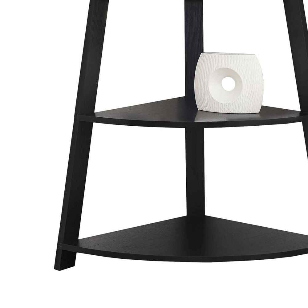 """Monarch Specialties 60"""" Corner Accent Etagere in Cappuccino, , large"""