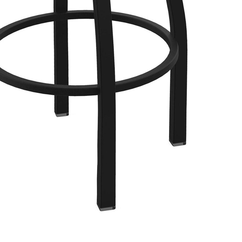 """Holland Bar Stool 411 Jackie 25"""" Low Back Swivel Counter Stool with Black Wrinkle and Natural Maple Seat, , large"""