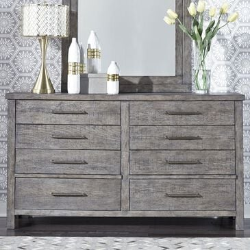 Belle Furnishings Modern Farmhouse 8 Drawer Dresser in Dusty Charcoal, , large