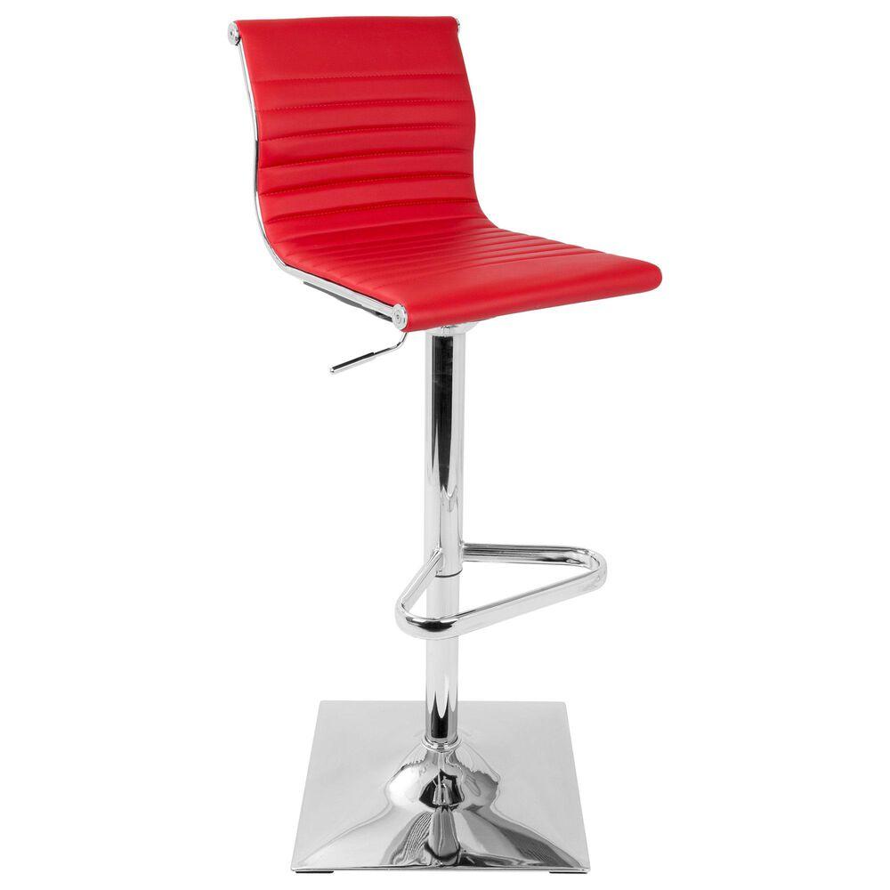 Lumisource Master Adjustable Barstool in Red/Chrome, , large