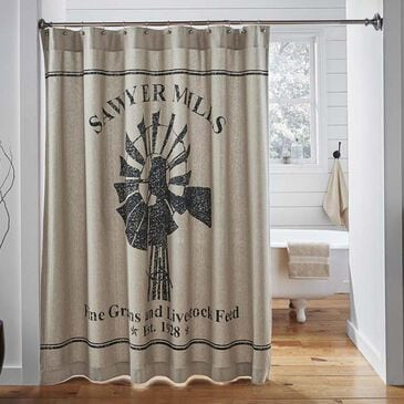 VHC Sawyer Mill Shower Curtain in Khaki, , large
