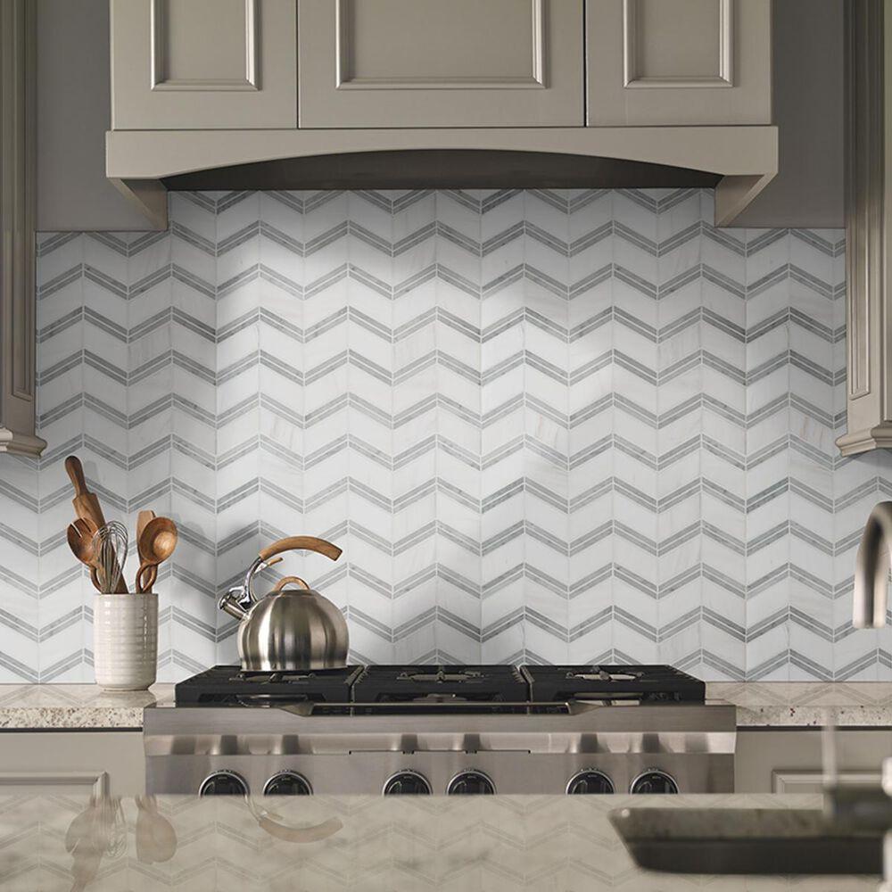 "MS International Bianco Dolomite White and Gray 12"" x 12"" Polished Natural Stone Tile, , large"