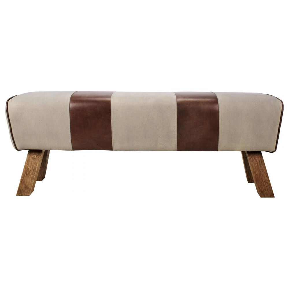 Moe's Home Collection Pommel Bench in Brown, , large