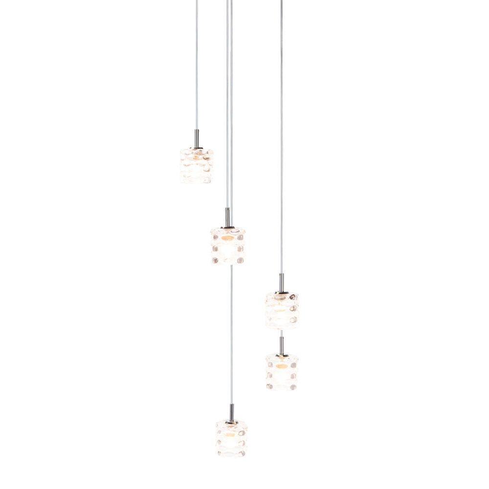 Safavieh Hadden Pendant Light in Silver/Clear, , large