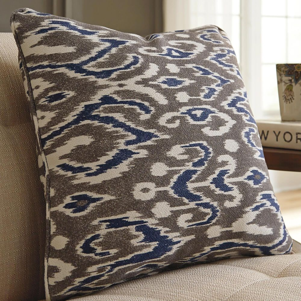 Signature Design by Ashley Kenley Pillow in Blue and Brown, , large