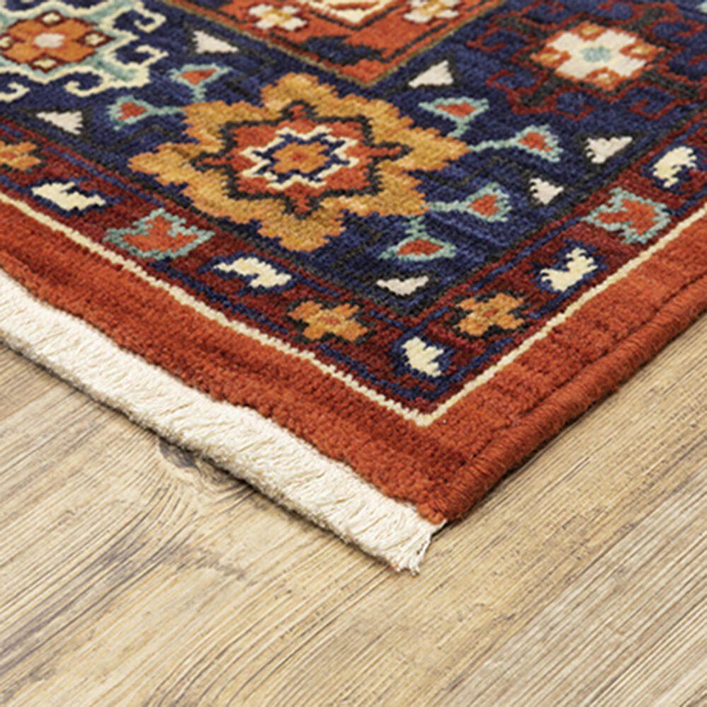 "Oriental Weavers Lilihan Medallion 2061V 2'6"" x 12' Red and Blue Runner, , large"