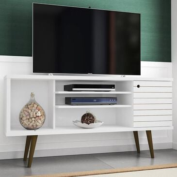 "Living Essentials Liberty 53.14"" TV Stand in White, , large"