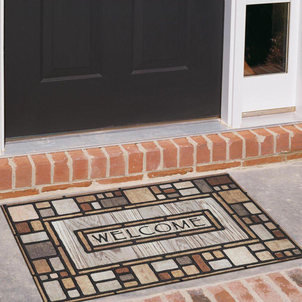 """Karastan Doorscapes 45411'6"""" x 2'6"""" Multicolor Door Mat, , large"""