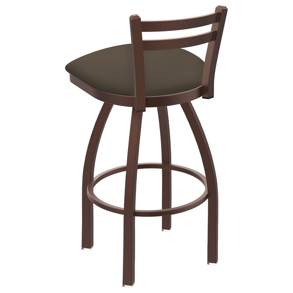 """Holland Bar Stool 411 Jackie 25"""" Low Back Swivel Counter Stool with Bronze and Canter Earth Seat, , large"""