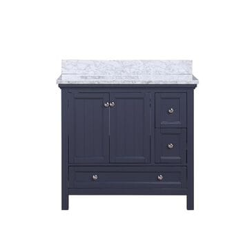 "Aurafina Cunningham 36"" Vanity with Top and Sink in Harbor Blue, , large"