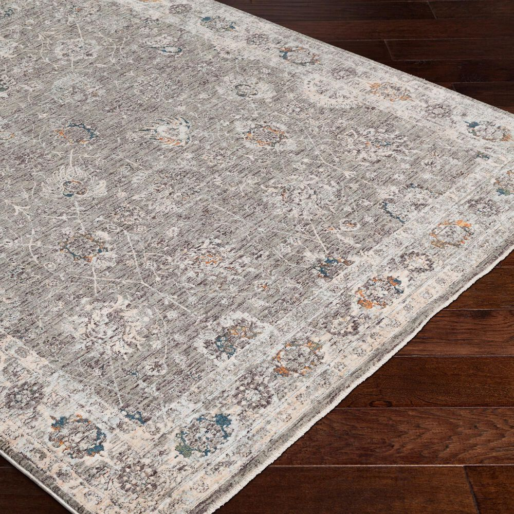 Surya Presidential PDT-2307 5' x 8' Gray and Orange Area Rug, , large