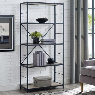 "Walker Edison 60"" Bookcase in Grey Wash, , large"