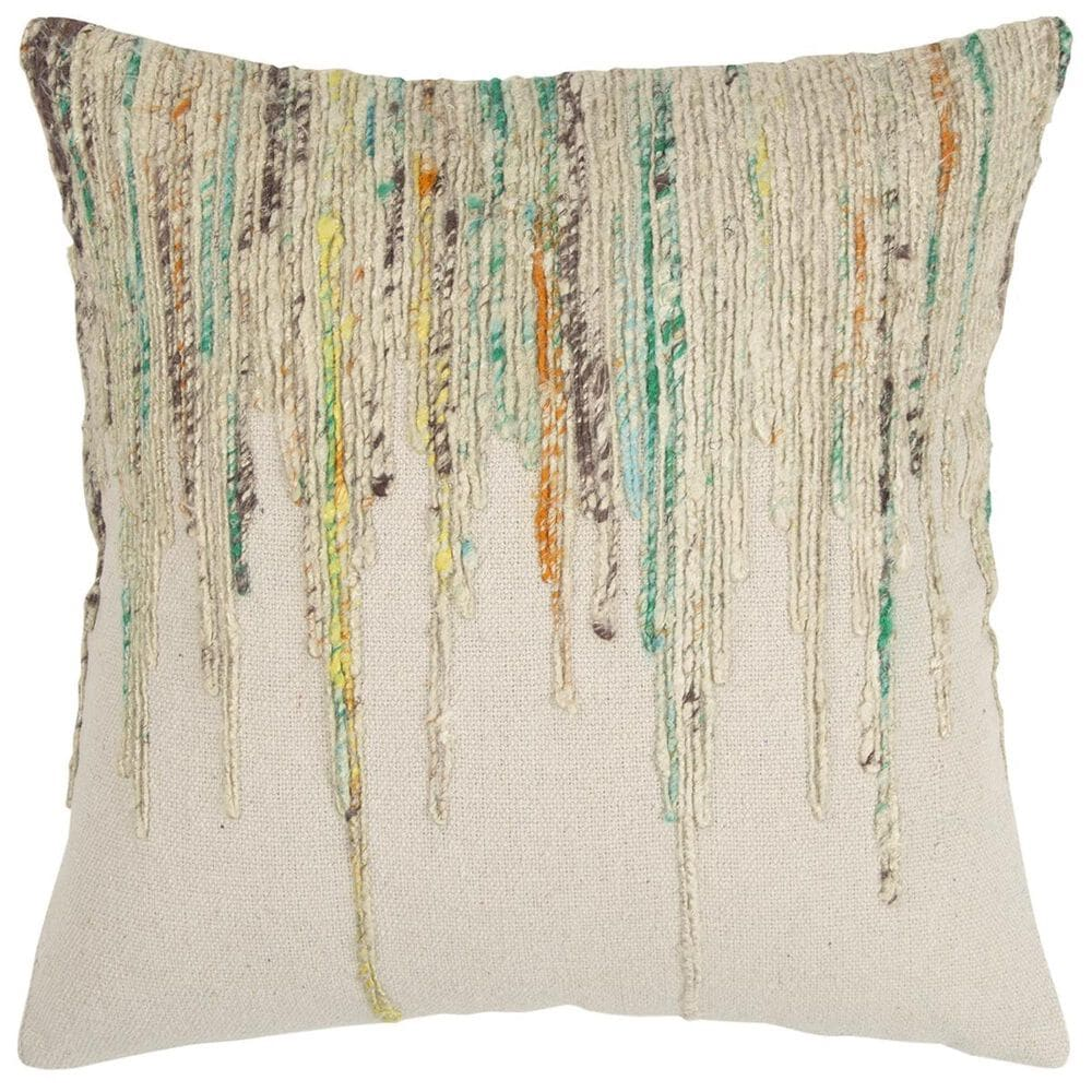 """Rizzy Home 20"""" x 20"""" Pillow Cover in Tan with Multicolor, , large"""