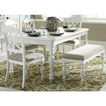 Belle Furnishings Summer House 6-Piece Rectangular Table Set in Oyster White, , large