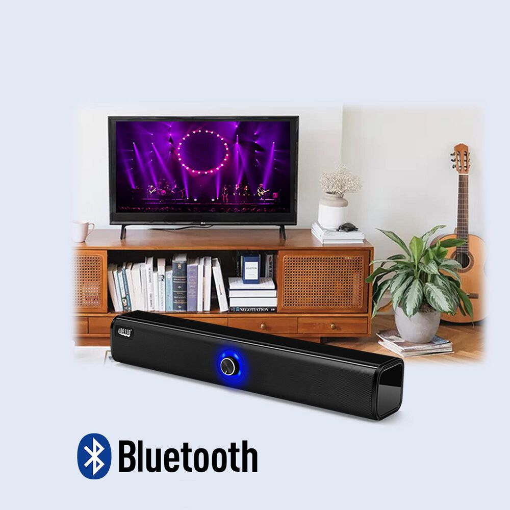 Adesso Xtream S6 Bluetooth and AUX Sound Bar Speaker 10W x 2, , large