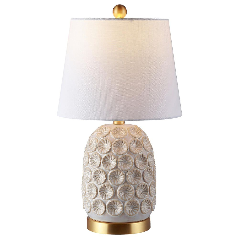 Safavieh Lamson Table Lamp in White and Gold, , large