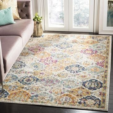 Safavieh Madison MAD611B-4 4' x 6' Cream/Multi Area Rug, , large