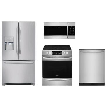 Frigidaire Gallery 4-Piece Kitchen Package w/ Slide-in Electric Range - Stainless Steel, , large