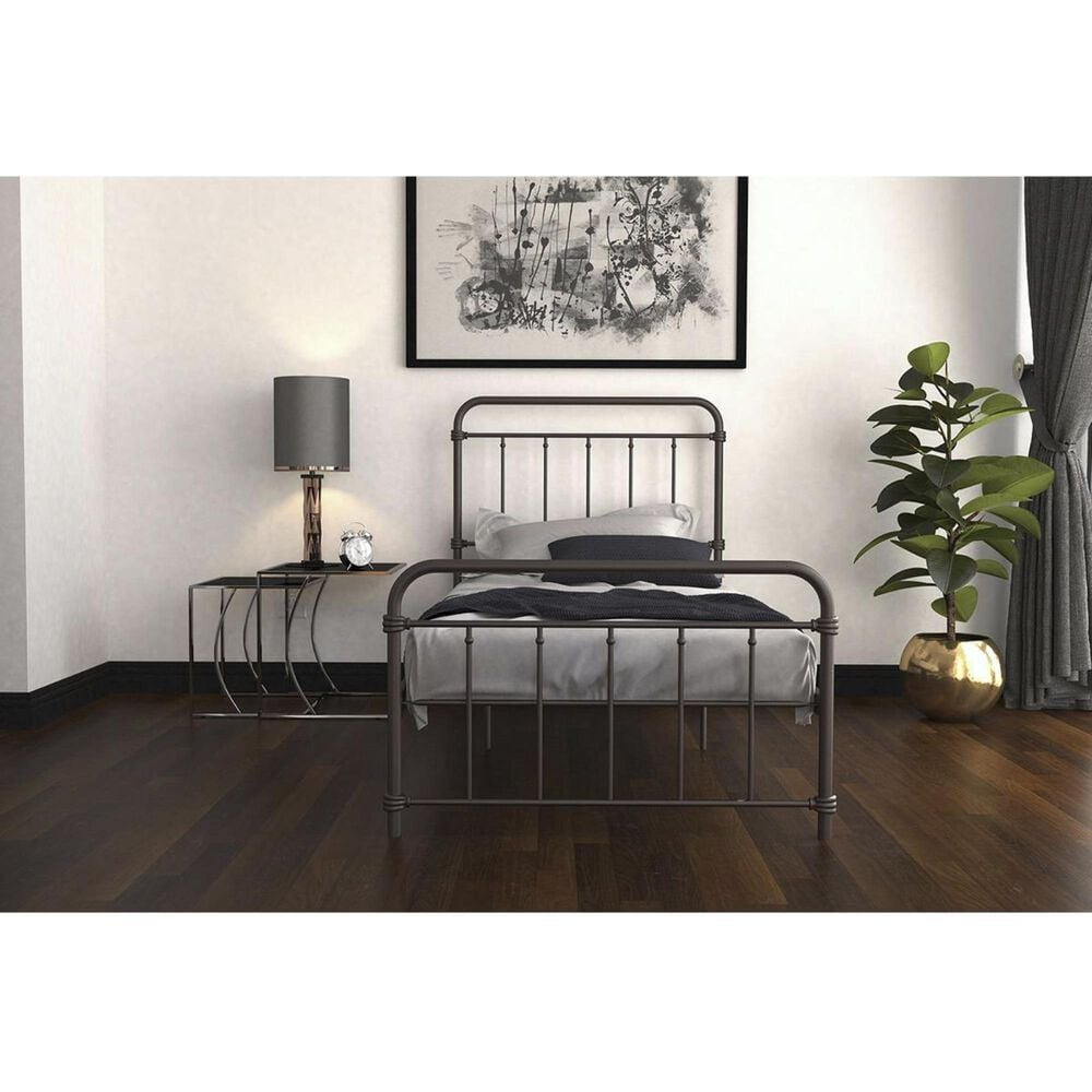 DHP Wallace Twin Metal Bed in Bronze, , large