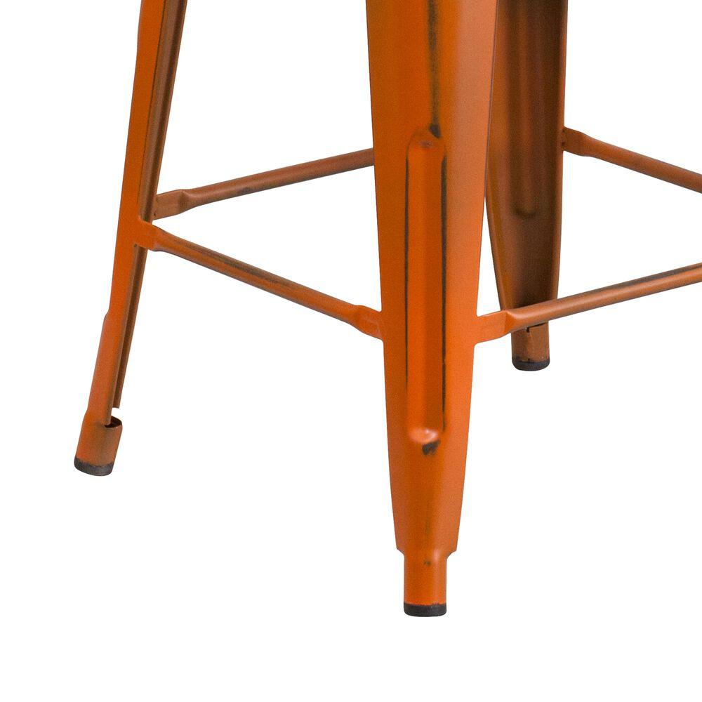 """Flash Furniture 24"""" Counter Stool in Orange, , large"""