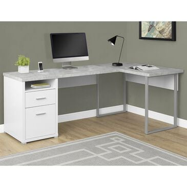 "Monarch Specialties 80"" LAF/RAF Computer Desk in White, , large"