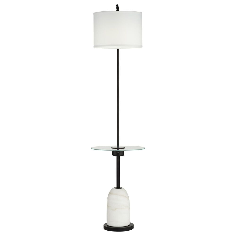 Pacific Coast Lighting Wellington Floor Lamp with Tray in Marble and Black, , large