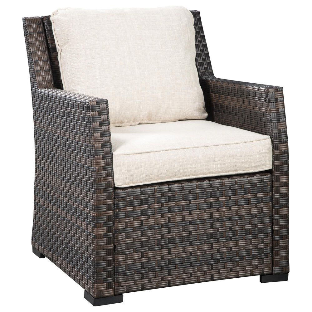 Signature Design by Ashley Easy Isle Lounge Chair with Cushion in Dark Brown and Beige, , large